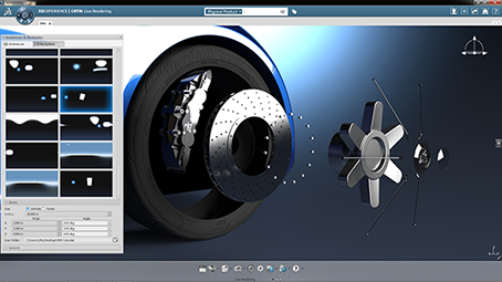 Screenshot of CATIA workspace