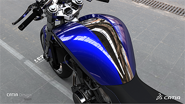 Motorcycle rendered with CATIA